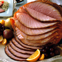 Grilled Ham with Lemon Orange Glaze