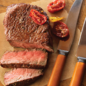 Lemon-Pepper Seasoned Ribeye Filets with Roasted Tomatoes